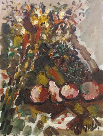 Art work by Emanuele Cappello Composizione con frutta - oil canvas