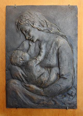 Quadro di M. Bandini Maternità - scultura bronzo