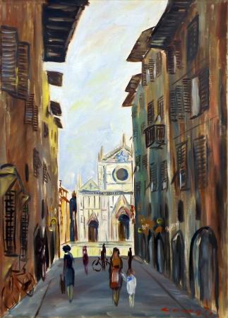 Art work by  Cincinnati Santa Croce - Firenze - oil canvas