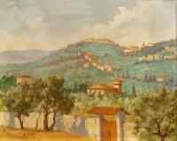Pancrazio Spinelli - Paesaggio toscano