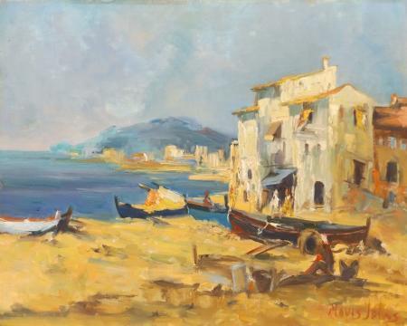 Quadro di Mavis Johns Sulla costa - Pittori contemporanei galleria Firenze Art
