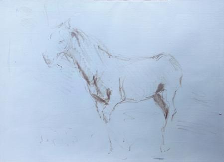 Art work by Gino Paolo Gori Cavallo - marking pen paper