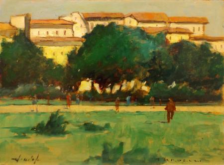 Quadro di Angelo Tardelli Paesaggio - olio faesite