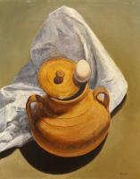 Pancrazio Spinelli - Vaso con uovo e tovaglia