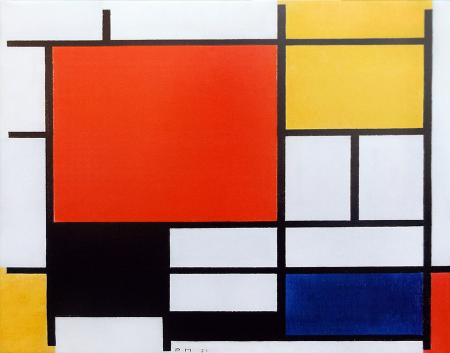 Art work by Andrea Tirinnanzi Omaggio a Mondrian - ink jet canvas