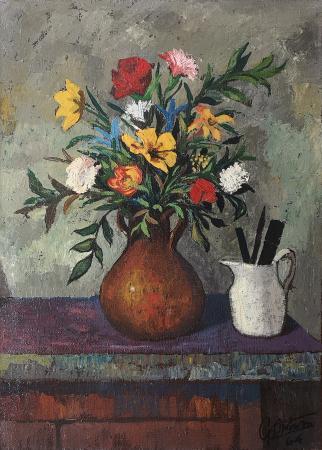 Art work by Gianfranco Antoni Vaso di fiori  - oil canvas