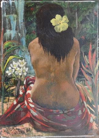 Art work by Gianfranco Antoni Nudo di schiena - oil canvas