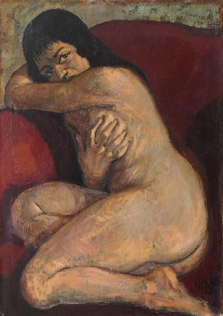 Art work by Gianfranco Antoni Nudo di donna - oil canvas