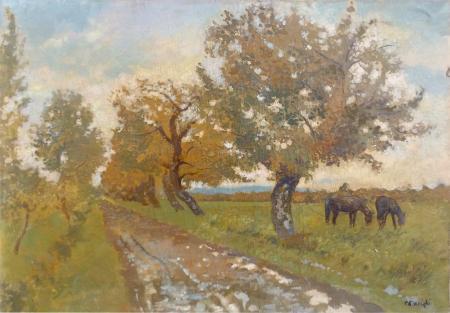 Quadro di Carlo Passigli Paesaggio - olio tela