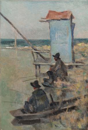 Quadro di Ghigo  Tommasi Bocca d'Arno - olio tavola