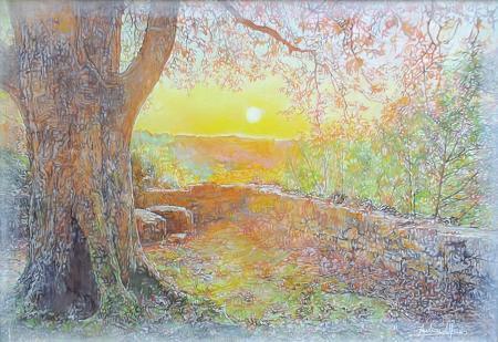 Art work by Andrea Alfani  L'angolo romantico del mio cuore - oil canvas