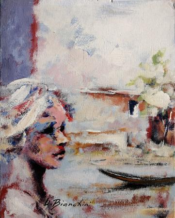 Quadro di Umberto Bianchini Composizione - Pittori contemporanei galleria Firenze Art