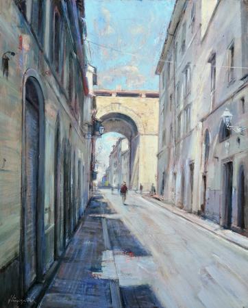 Quadro di Mario Minarini Porta di San Frediano Firenze - olio tavola