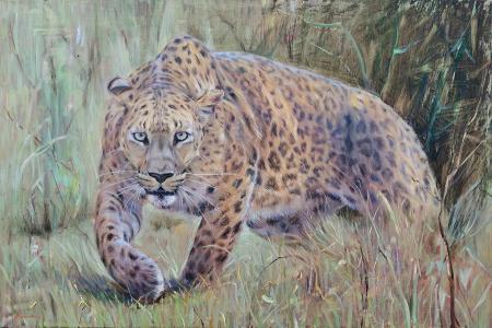 Art work by Mario Minarini Pantera - oil canvas