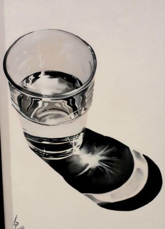 Quadro di Paolo Lenti Aspettando il miracolo  - olio tavola