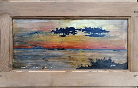 Art work by Massimo Lomi Quando si accende la mente - varnish table