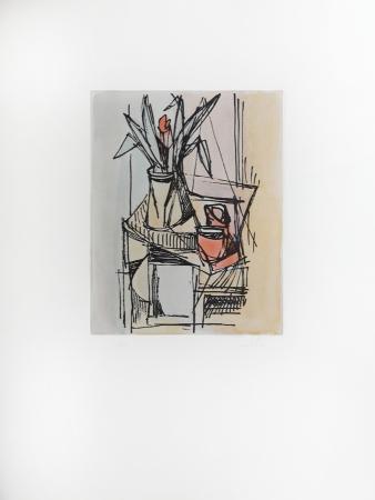 Quadro di Gualtiero Nativi Composizione con vaso - litografia carta