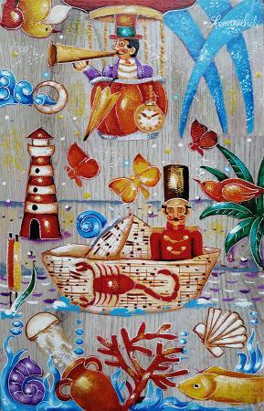 Art work by Francesco Sammicheli Scorpione - oil table