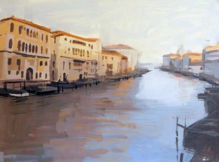 Quadro di Claudio Cionini Venezia - mista cartone su faesite
