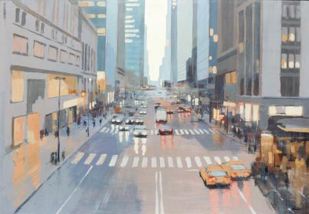Quadro di Claudio Cionini New York - mista cartone su faesite