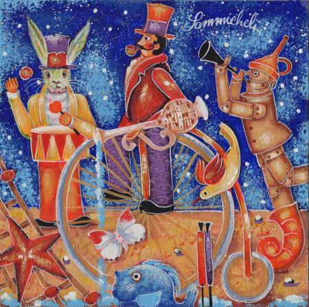 Quadro di Francesco Sammicheli Acquario - olio tavola