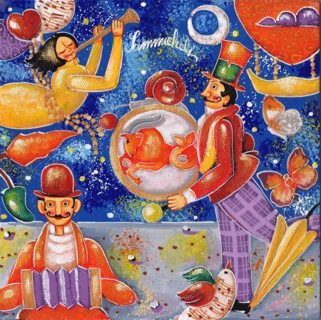 Art work by Francesco Sammicheli Capricorno - oil table