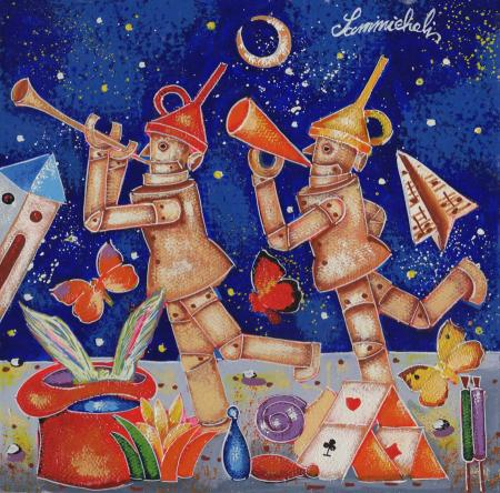 Quadro di Francesco Sammicheli Gemelli - olio tavola