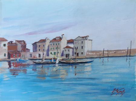 Quadro di Vasco Gori Marina - olio faesite