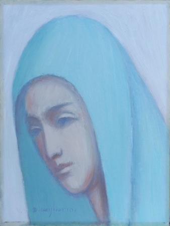 Art work by Dino Migliorini Testa di Madonna - oil canvas cardboard