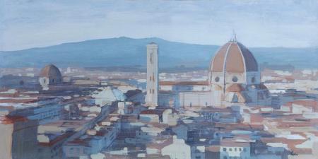 Quadro di Claudio Cionini Firenze - mista cartone su tavola