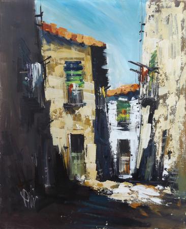Quadro di Antonio Dini Case  - olio tela