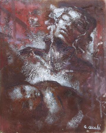 Quadro di G. Cecchi Maternità - Pittori contemporanei galleria Firenze Art