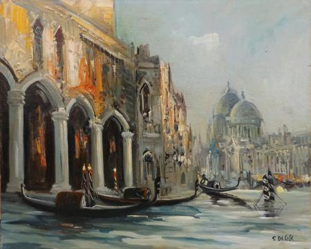 Art work by G. De Lise Venezia  - oil canvas