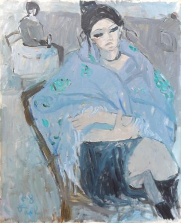 Quadro di Bruno Paoli Attese - olio tela