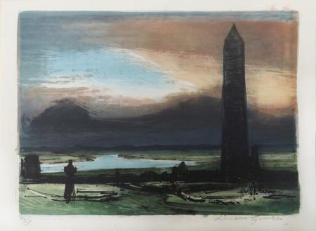 Art work by Luciano Guarnieri La torre - serigraphy paper