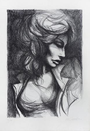 Quadro di Fausto Maria Liberatore Nudo di donna - serigrafia carta