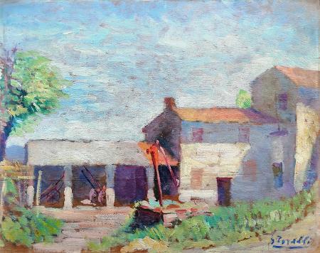 Quadro di G. Torelli Casa - olio tavola