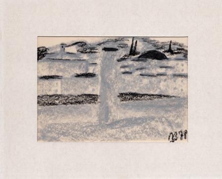Art work by F. Buffoni Paesaggio di campagna - pastel paper