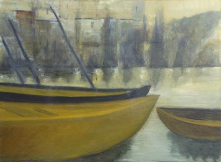 Quadro di F. Buffoni Barche - olio tela