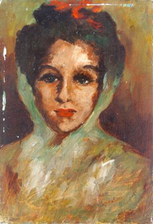 Quadro di Vittorio Baldacci Ritratto - olio tela