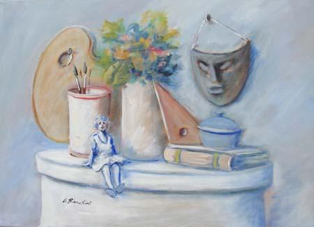 Quadro di Umberto Bianchini Composizione - olio tela