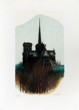 Art work by firma Illeggibile Architettura - serigraphy paper