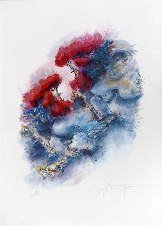 Art work by firma Illeggibile Rissa - serigraphy paper