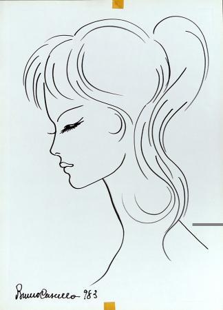Art work by Bruno Cascella Lei - marking pen paper