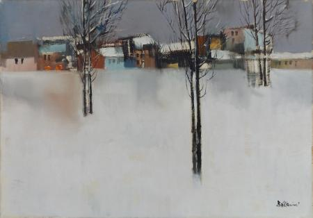 Art work by Lido Bettarini Nevicata - oil canvas