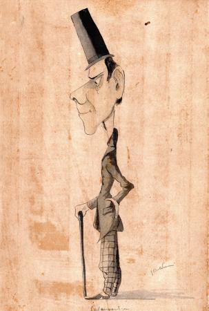 Quadro di Giovanni Boldini Calamandrei - china cartone