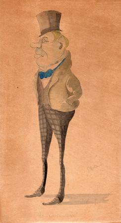 Quadro di Giovanni Boldini Remigio - china cartone
