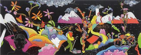 Quadro di Luca Alinari Viaggio sulla scogliera - serigrafia carta