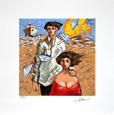 Quadro di Giampaolo Talani Un giorno d'estate - Pittori contemporanei galleria Firenze Art