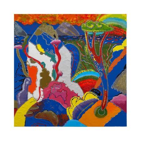 Quadro di Luca Alinari Passaggio in blu  - litografia polimaterica carta
